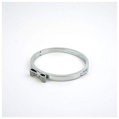 - Kate Spade New York Ready Set Bow Bangle Bracelet O0RU1547 (Silver)