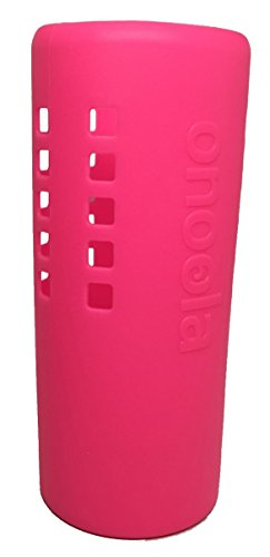 ve for Hydro Flask Water Bottles (Multiple Sizes & Colors) (Glow Pink, 40oz) (Dark Pink Silicon Sleeve)