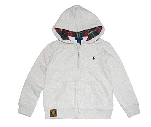 RALPH LAUREN Polo Boys Classic Plaid Lined Hoodie Full Zip Jacket (6) (Polo Ralph Online)