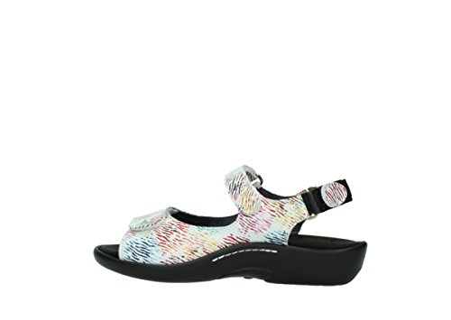 Leather Bianco Sandals 1300 Womens Wolky Salvia fn400H