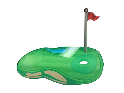 (Acrylic Golf Ball Stand 3D Color Printed Display Athletic Unique Fairway Course Trophy Case)