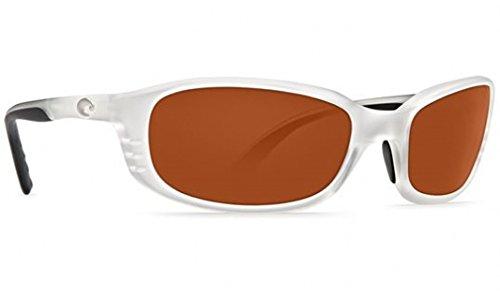 Costa Del Mar Sunglasses - Brine- Plastic / Frame: Matte Crystal Lens: Polarized Amber 580P - 580p Costa Brine