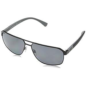 Emporio Armani EA2039 301481 Black EA2039 Square Aviator Sunglasses Polarised L