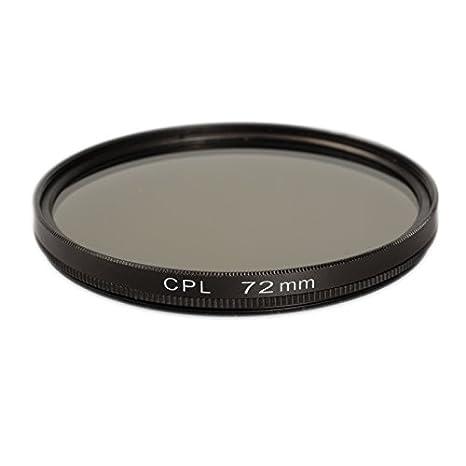 Fabricado en Aluminio y Vidrio /óptico Circular Polarizing Filter para Canon Sony Nikon Fujifilm Pentax Tamron Sigma Leica Olympus Panasonic 72mm Ares Foto/® Filtro de polarizaci/ón Circular