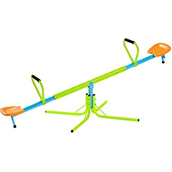 Pure Fun Home Playground Equipment: Swivel Seesaw, Youth Ages 4 to 10