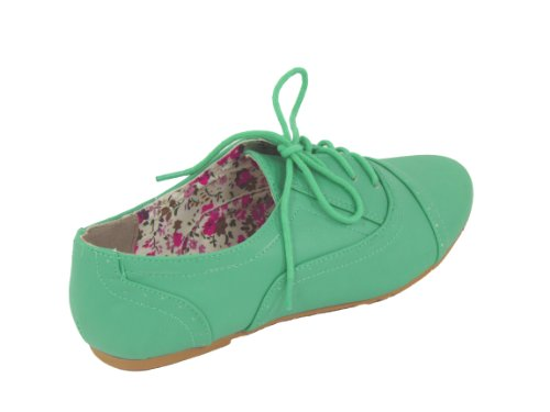 Nature Breeze Women Cambridge-03 Flats-Shoes Sea Green aCPdIWP