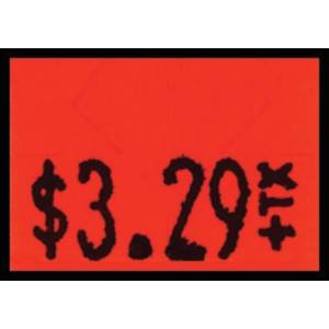 Red Fluorescent Monarch 1130 Labels Case of 10 Rolls