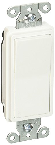 Hubbell DS315W Decorator Switch, 3 Way, 15 amp, 120/277V, White (Pack of 10) - Hubbell Light Switch