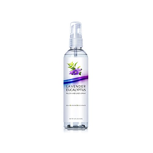 Original Lavender Eucalyptus Pillow and Linen Spray, Best Home Essential Oil Mist to Relax the Body, Fresh Clean Smell (Lavender Eucalyptus, 4oz) ()