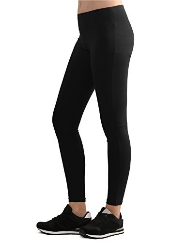 Lock and Love WB962 Womens Tights Ankle Length Legging Pants XL Black