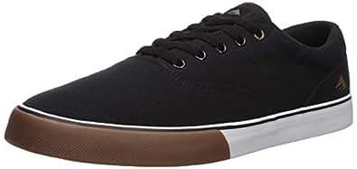 Emerica Men's Provost SV Skate Shoe, Black/White/Gum, 8.5 Medium US