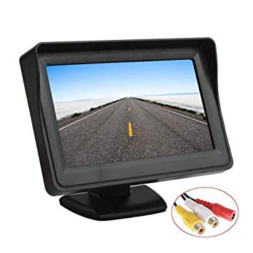 Uniqus PZ-703 4.3 inch TFT LCD Car Rearview Monitor with Stand and Sun Shade