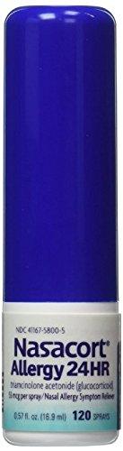 Nasacort Allergy 24hr Non-Drip Nasal Spray LargerItems (120 sprays, 6 pk.) by Nasacort