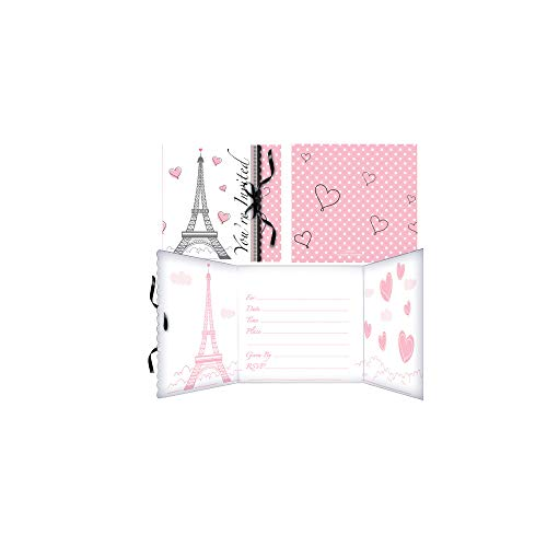 (Party in Paris Invitations - Pack of)