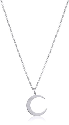 Dogeared Reminder Light Up The Sky, Thin Crescent Moon Silver Chain Necklace, 16
