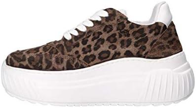 Sneaker donna Starter fondo zeppa in pelle scamosciata stampa leopardo D20ST01