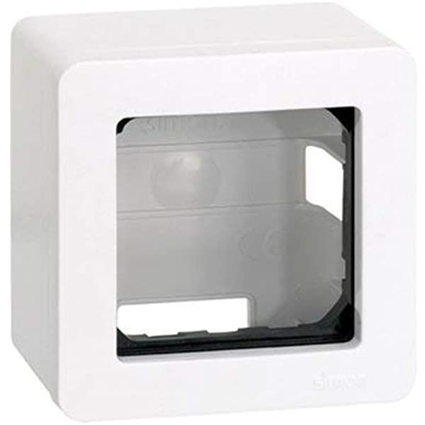 Caja de superficie para 1 elemento Simon 27 Play Blanco: Amazon.es: Bricolaje y herramientas