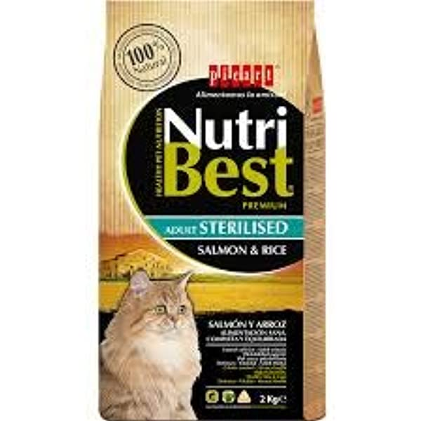 Nutribest Cat Sterilised Salm 8K 8000 g: Amazon.es: Productos para ...