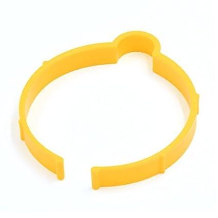 eDealMax PVC Amarillo Hoja de Abrigo del coche del Clip Sujetador de la película Etiqueta Rollo