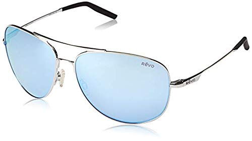 Revo Windspeed II RE 1022 03 BL Polarized Aviator Sunglasses, Chrome Blue Water, 63 mm