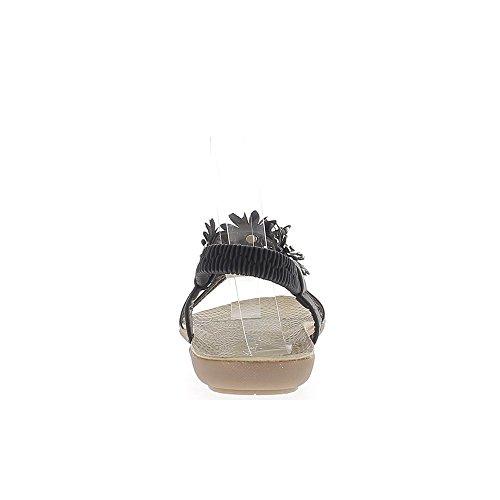 Barfuß Schwarzes Muster Blumen alleinige Komfort mit Straßsteinen