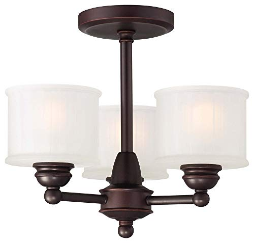 Minka Lavery 1738-167 1730 Series 3-Light Semi-Flush in Bronze