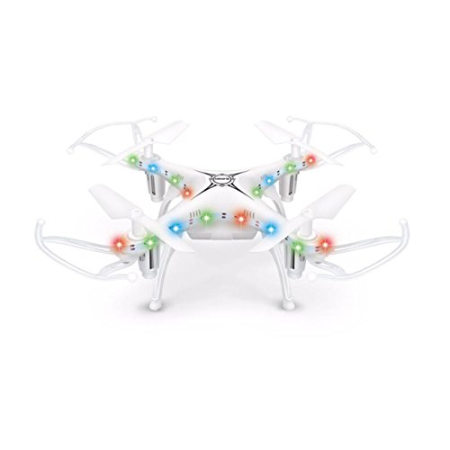 X13D Drone 2.4GHz 4CH Led Mini Remote RC Quadcopter 3D Rollover Christmas Gift (White) by ABASSKY