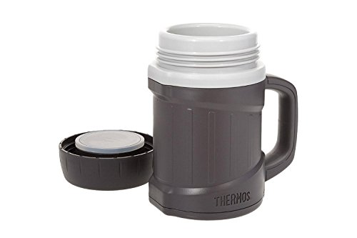 Thermos Vacuum Insulated Double Wall Foam, Microwavable Food Jar, Gray, 16 Ounces