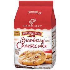 Strawberry Cheesecake Dessert - Pepperidge Farm Strawberry Cheesecake Dessert Shop Cookies Limited Edition (Pack of 6)