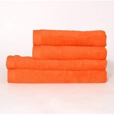 Toalla algodón 550 gr/m2 Naranja - Medidas Toallas - 100cm x 160cm ...
