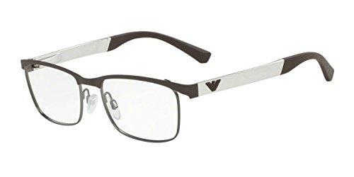 Emporio Armani Glasses Frames - Emporio Armani EA1057 Eyeglass Frames 3161 - Matte Brown/Matte Gunmetal 52mm