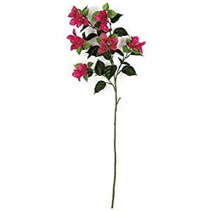 45 Inch Outdoor Bougainvillea Stem Polyblend UV Foliage White, Cream 4