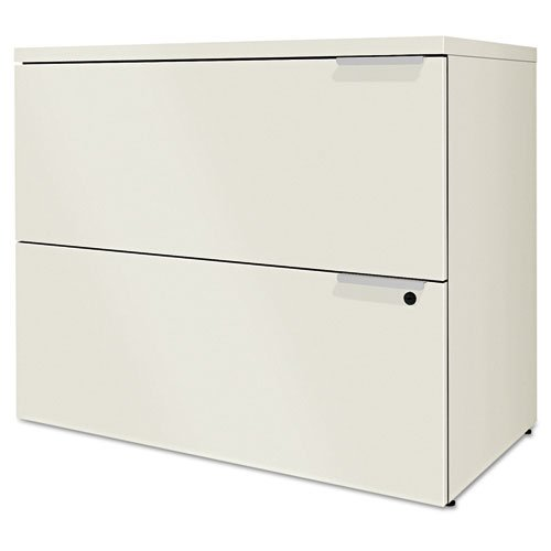 HON VLF36B Voi Two-Drawer Lateral File, 36 by 20 by 29.5-Inch, Silver Mesh