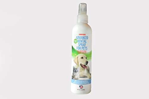 Sonnyridge Dog Dental Spray Removes Tartar, Plaque and Freshens Breath Instantly. The Most Advanced Dental Spray for Healthy Teeth, Gums and Oral Health Care for Your Dog, Cat or Pet - 1-8 oz. Bottle