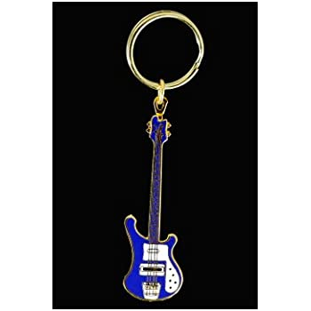 electric bass guitar key chain red musical instruments. Black Bedroom Furniture Sets. Home Design Ideas
