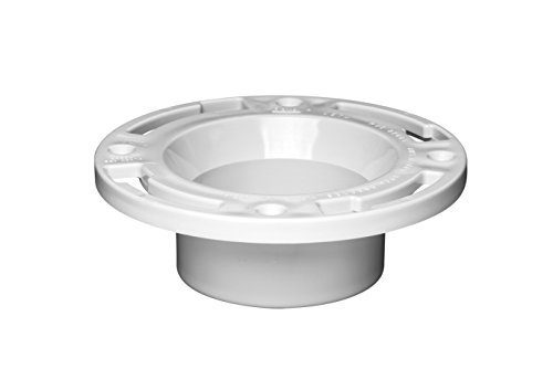 Oatey 43503 PVC Closet Flange without Test Cap, 3-Inch or - Closet Inch 4 Flange