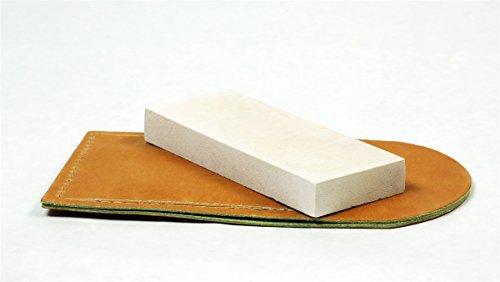 RH Preyda Hard Arkansas Pocket Stone (4 x 1 x 3/8 inches), Leather Pouch