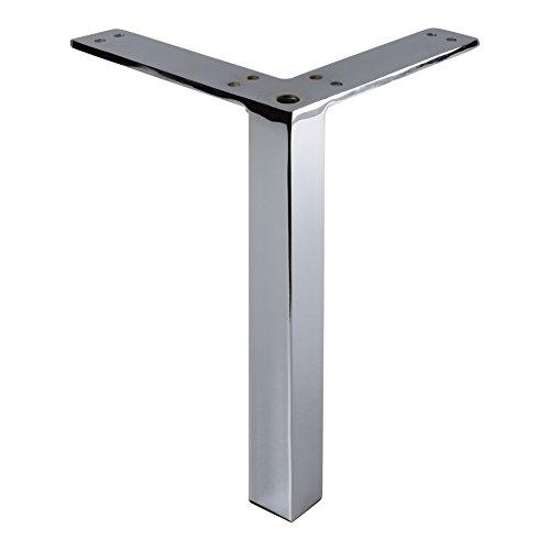 Contemporary Furniture Leg (Hafele 634.47.202 Furniture Foot Table Leg, Square Corner, Polished Chrome)