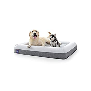 Image of Pet Supplies Laifug Orthopedic Memory Foam Large Sofa Pet/Dog Bed (43'x36'x7') with Durable Water Proof Liner and Removable Washable Cover