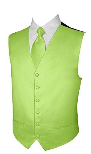 Tuxedo Vest Lime Satin - 8