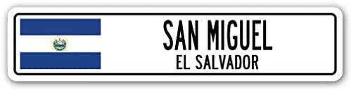 YelenaSign Señal de Aluminio de San Miguel de El Salvador, Bandera ...