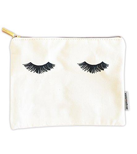 "Hello Gorgeous Cosmetic Makeup Bag - Eyelashes Bag 8.5""x6"" C"