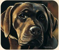 Lab Chocolate Fiddlers Elbow - Fiddler's Elbow Pollyanna Pickering Chocolate Labrador Lab Mouse Pad