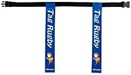 ミカサ タグラグビー用ベルト 青 TRTG70-BL TRTG70-BL