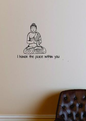 Design with Vinyl Moti 1911 3 I Honor the Place Within You Peel /& Stick Wall Sticker Decal 18 x 18 Black