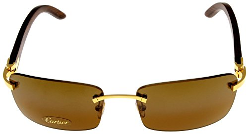 Amazon Com Cartier Sunglasses C Decor Rimless Unisex Wood T8200728