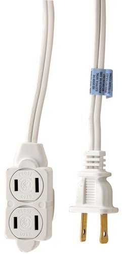 (Ge Ext Cord Whte 6' Size Ea)