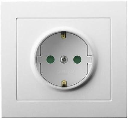 Toma de corriente Schuko Interruptor pulsador interruptor de luz regulador interruptor Kier: Amazon.es: Bricolaje y herramientas