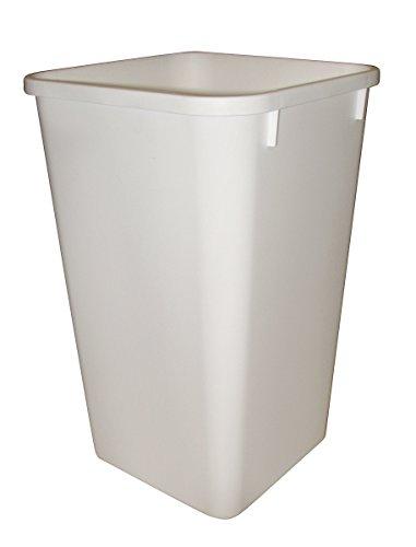 Rev-A-Shelf Replacement Waste Bin White-27 Quart (Trash Can Square)