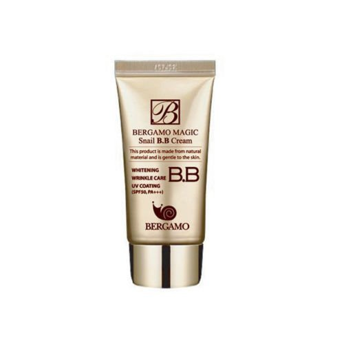 Bergamo BB Cream Snail 50ml,1pcs, All Skin Types,whitening Wrinkle Care Spf50+ Pa+++